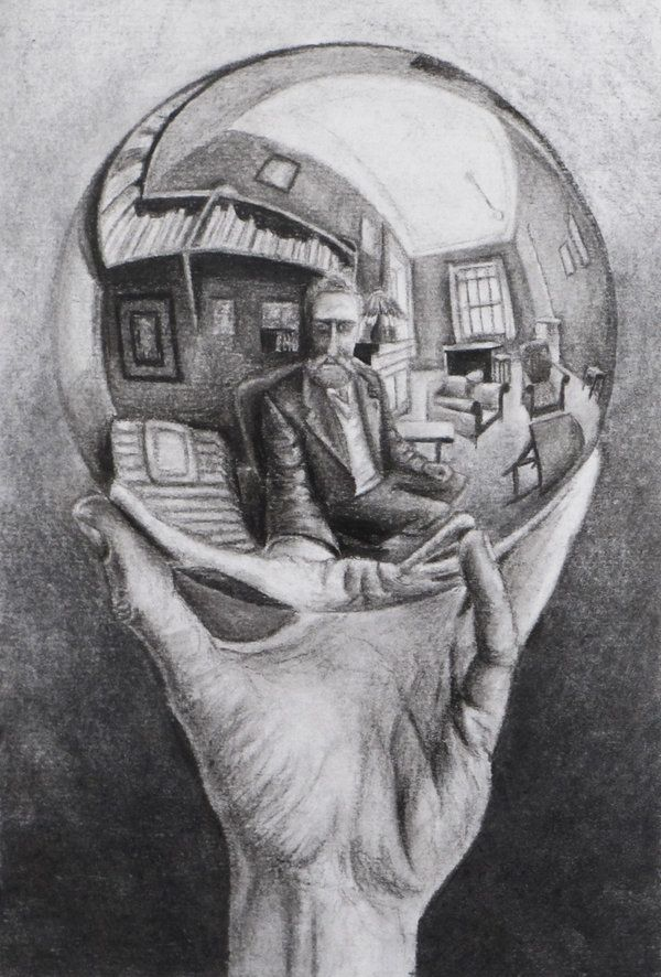 M C Escher Hand With Reflecting Sphere 1935 Surrealism
