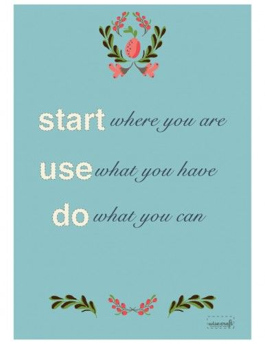 Start Use Do print by Wise Craft Handmade