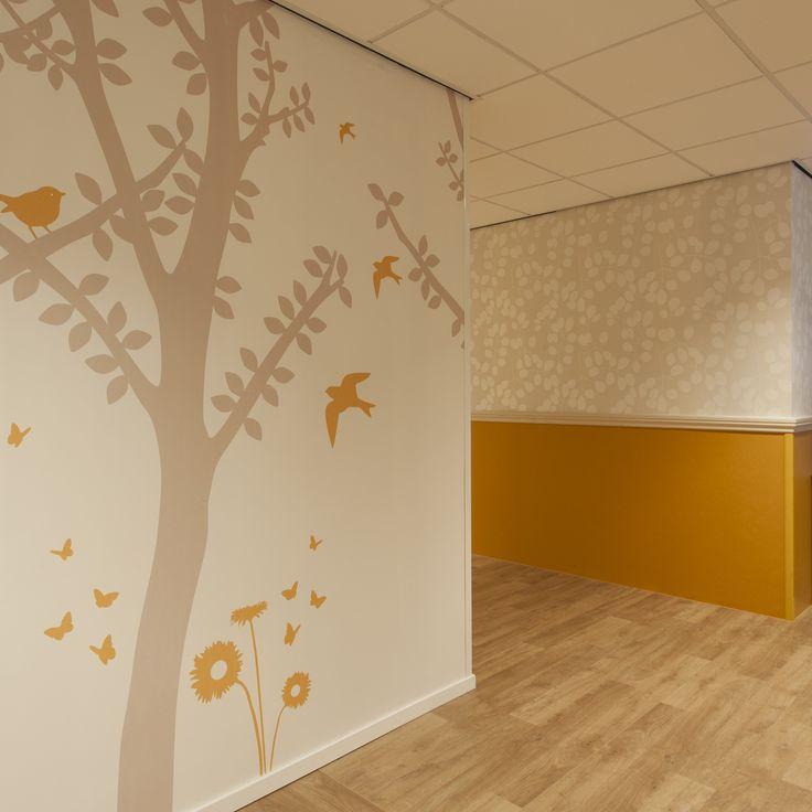 Annekoos Littel Interieurarchitecten bni - Centrumverpleeghuis Liduina #health #care #wall #print #wallpaper #interior #design #annekoos #annekooslittel #woerden #hall