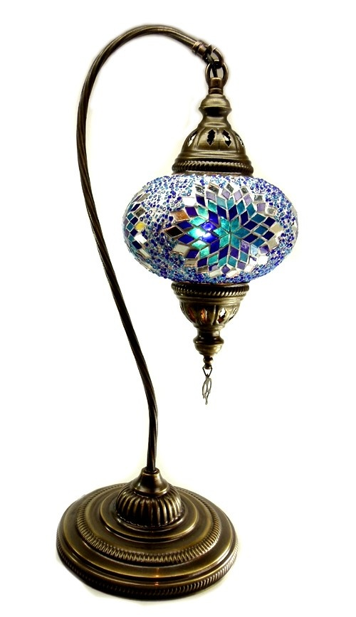 Glass Mosaic Lamp (tall)-12 - Nazar Turkish Imports