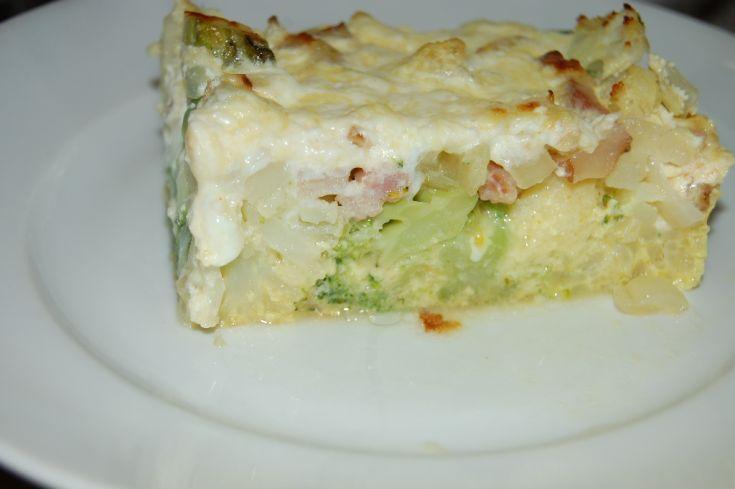 Fotorecept: Zapekaný karfiol s brokolicou vo vajíčku