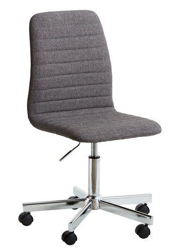 250 Krzesło biurowe ABILDHOLT c.szary/chrom | JYSK