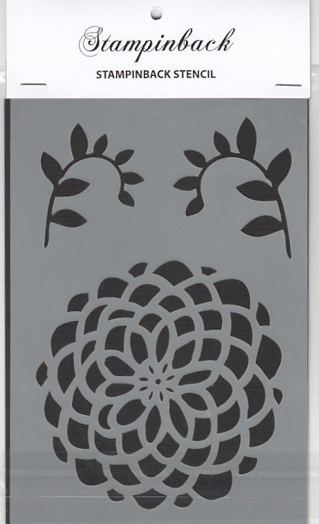 Stampinback.nl Stencil Flower & leaves
