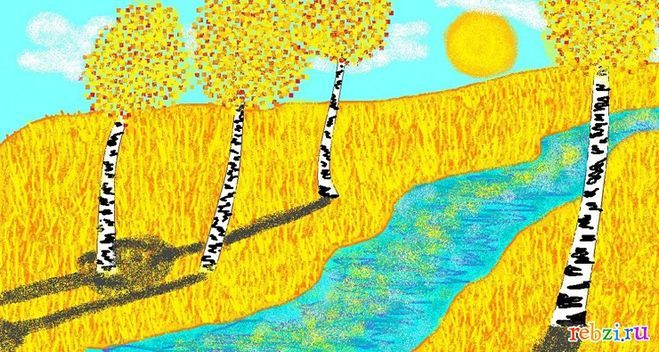 Детский рисунок на тему осень, зима, весна, лето смотреть, что рисовать?