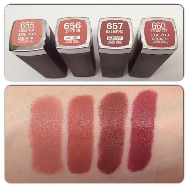 Color Sensational Creamy Mattes Lipstick, Lip Makeup by Maybelline. Creamy matte lipstick infused with three precious oils and made in 20 colorful shades.
