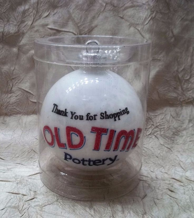 Old Time Pottery 2016 Christmas Ornament Holiday Ball Thank You For Shopping New