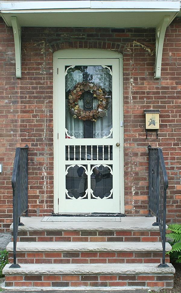 door on brick house in waterloo in the finger lakes region of upstate new york storm doorsbrick