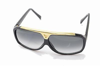 Authentic Louis Vuitton Sunglasses Z0350E Evidence Goldtone X Black 127633