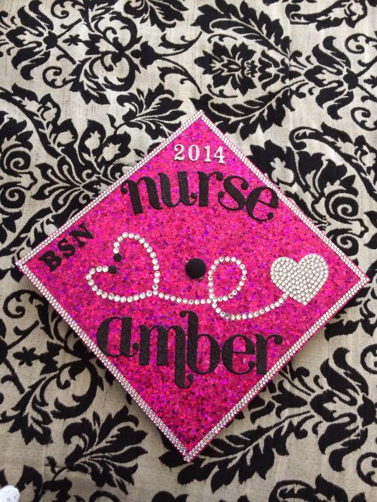 Class of 2014! My bling nursing grad cap!