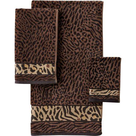 Better Homes and Gardens Animal Decorative Bath Towel Collection, Brown