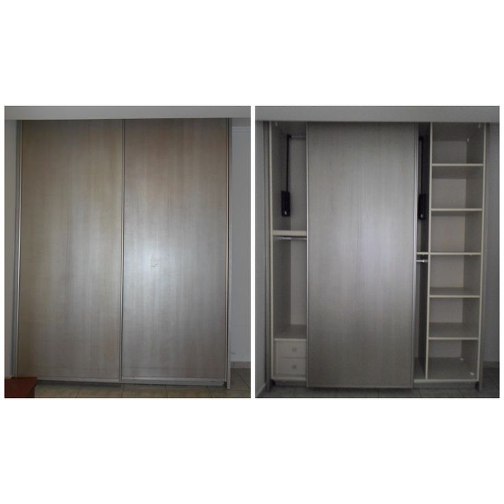 Ντουλάπα κρεβατοκάμαρας με συρόμενες πόρτες βαρέου τύπου και ειδική τεχνοτροπία στο χρώμα του.