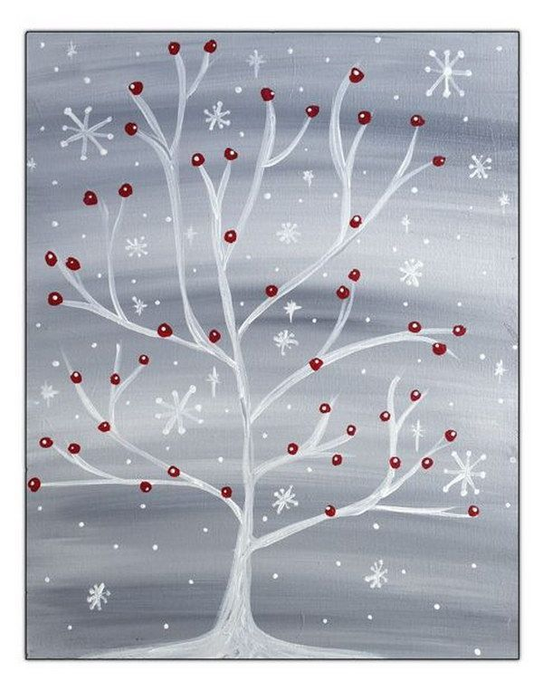 Winter Snowflake Tree with Red Cardinal                                                                                                                                                                                 More