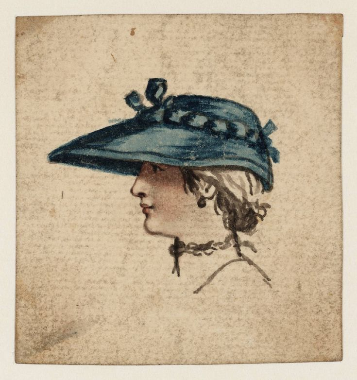 Susanna Duncombe (née Susanna Highmore) (1725‑1812), Head of a Young Woman in a Blue Hat, Date not known
