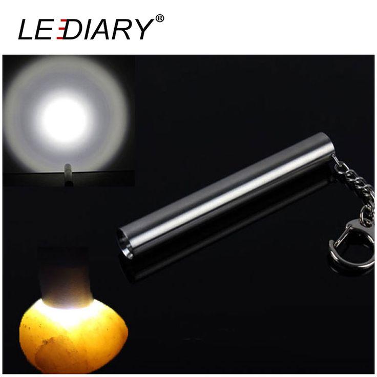 Super Lumineux Mini Torche Inoxydable Lumière LED lampe de Poche Transparente LED Torche En Aluminium Cree Lampe À Portée De Main> 240lm Max Distance100m