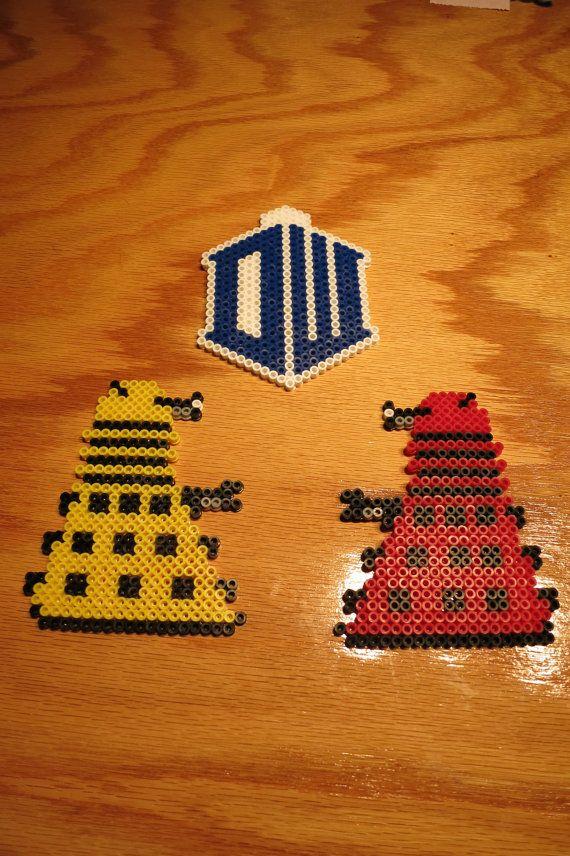 Dr. Who, Dalek, Tardis, Magnets, Perler Beads