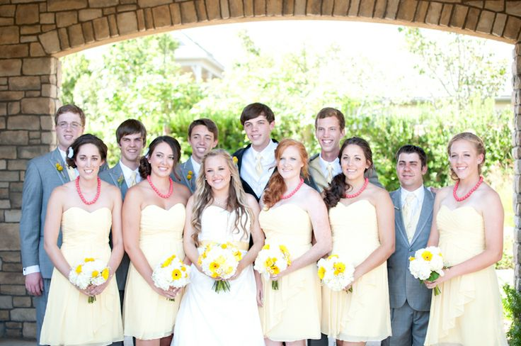 Yellow and grey wedding colors
