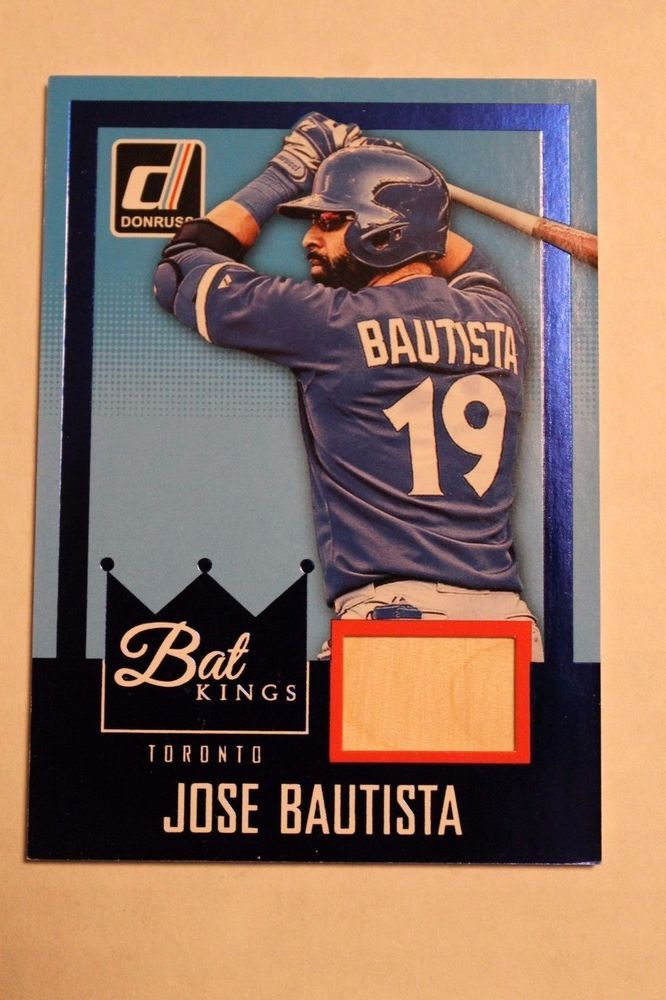 JOSE BAUTISTA -2016 DONRUSS BAT KINGS GAME USED RELIC MINT FROM PACK #TORONTO