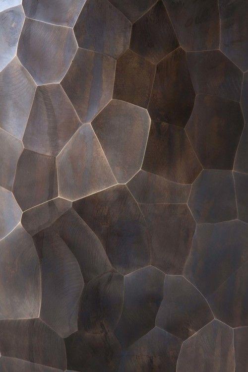Patinated Facet Vase Detail
