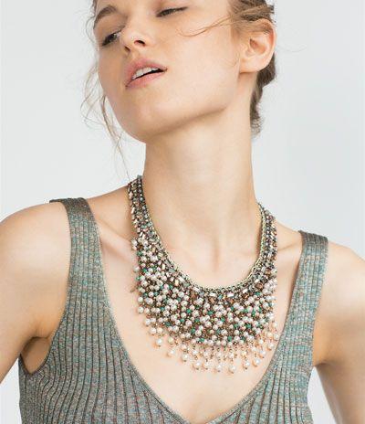 Zareando Forever: Zara: Collar malla metalica y piedras