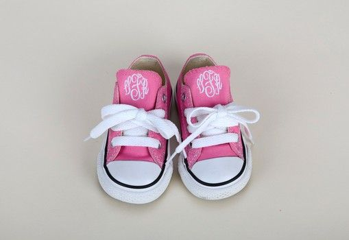 Personalized Monogrammed Baby and Toddlers' Converse Sneakers