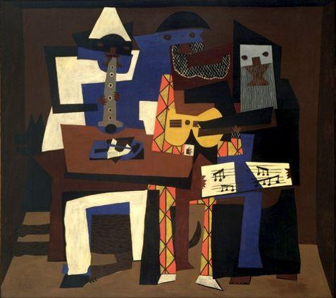 """Pablo Picasso, """"Los tres músicos"""", 1921, MoMA"""