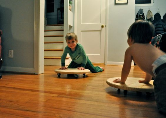 Great DIY for how to make your own scooter boards - no sawing or sanding necessary! Pinned by SPD Blogger Network. For more sensory-related pins, see http://pinterest.com/spdbn  -  repinned by @PediaStaff – Please Visit http://ht.ly/63sNt for all our pediatric therapy pins