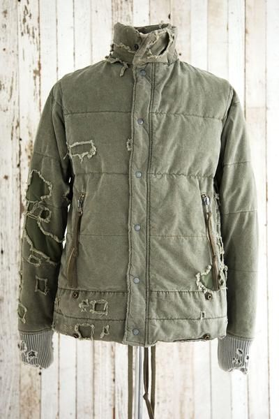 DESTROYED TENT RETRO CLASSIC PUFFY JACKET