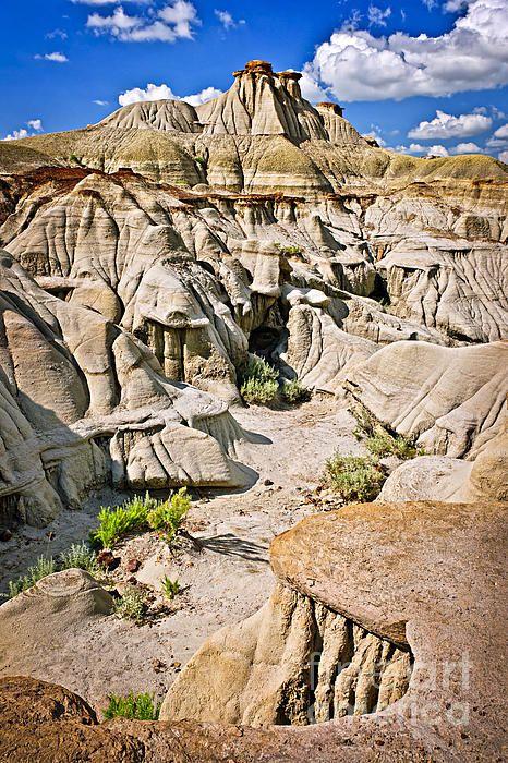 The Badlands, Dinosaur Provincial Park, Alberta, Canada; photo by Elena Elisseeva  www.10GiftCard.info