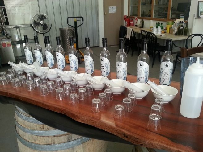 Bass and Flinders distillery, gin experience.