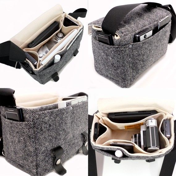 Small DSLR camera bag black por MooseAndPine en Etsy
