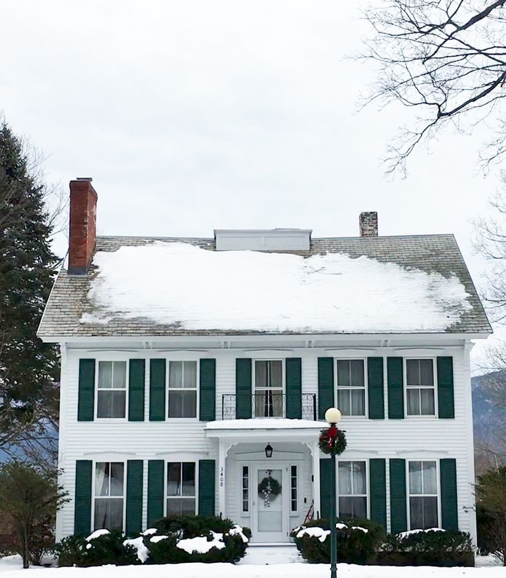 Historic home on Route 7A in Manchester Village, Vermont.