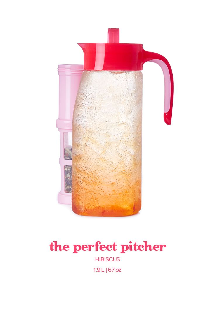Hibiscus Perfect Pitcher - This large-capacity leakproof pitcher lays flat for easy storage.