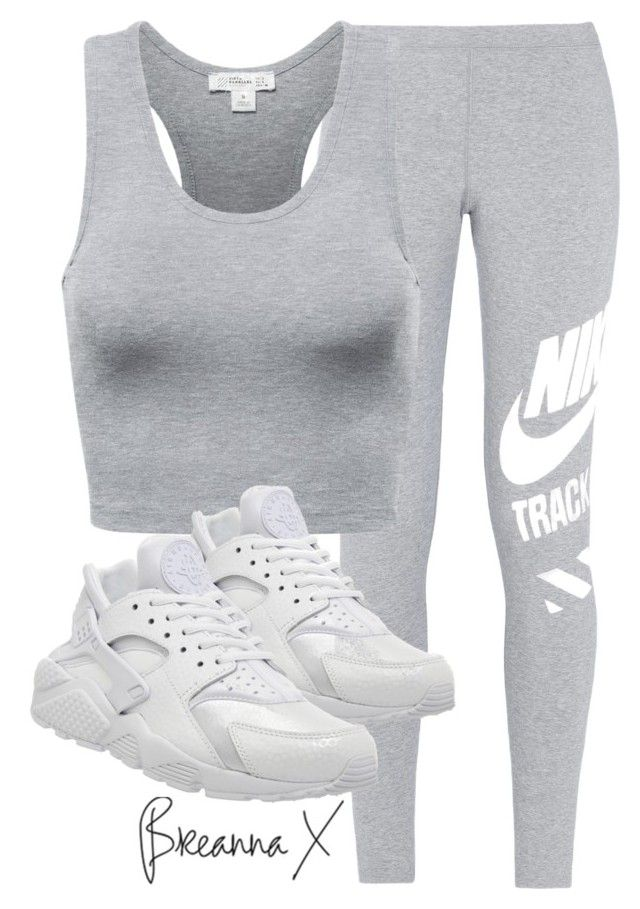 """""""Untitled #2889"""" by breannamules ❤ liked on Polyvore featuring NIKE, women's clothing, women's fashion, women, female, woman, misses and juniors"""