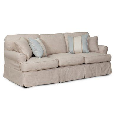 Beachcrest Home Coral Gables Sofa T-Cushion Slipcover Set