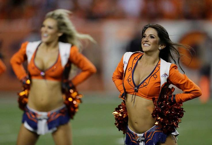 The Denver Broncos cheerleaders perform during the second half of an NFL football game against the Carolina Panthers, Thursday, Sept. 8, 2016, in Denver. (AP Photo/Joe Mahoney)