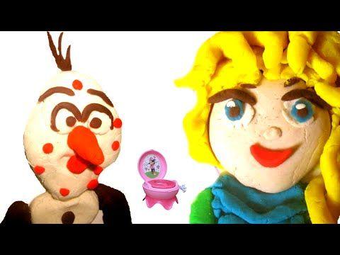 Olaf Frozen Pimple Zit Cakes Disney Queen Elsa Movie Play Doh Stop Motion…