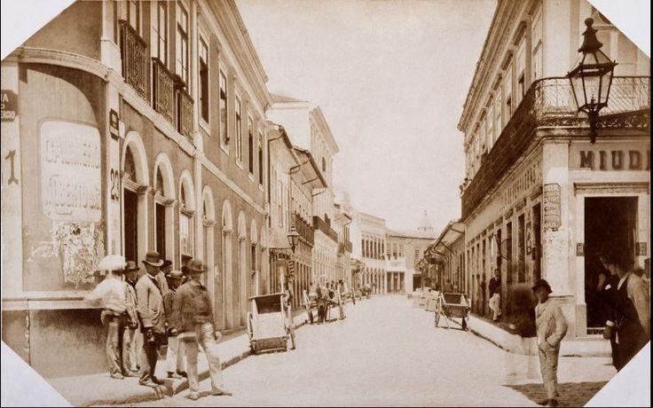 1887 - Rua da Quitanda - Militão A. Azevedo