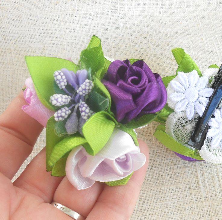 Sweetie barrette for girls of color rose on alligator hair