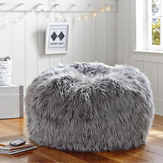 Gray Fur-Rific Beanbag   PBteen