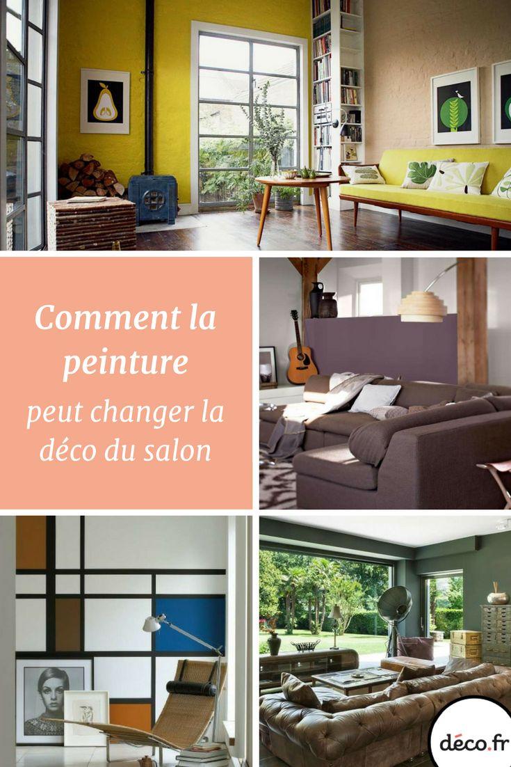 129 best images about salon on pinterest living room banquet and furniture for Peinture du salon