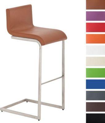 Edelstahl-Barhocker NEWPORT, exklusiver Freischwinger, aus bis zu 11 Polsterfarben wählen, Sitzhöhe 77 cm Jetzt bestellen unter: https://moebel.ladendirekt.de/kueche-und-esszimmer/stuehle-und-hocker/freischwinger/?uid=6b505ef6-86e2-5976-b26c-03b99ea2945d&utm_source=pinterest&utm_medium=pin&utm_campaign=boards #freischwinger #kueche #stehtische #esszimmer #hocker #stuehle