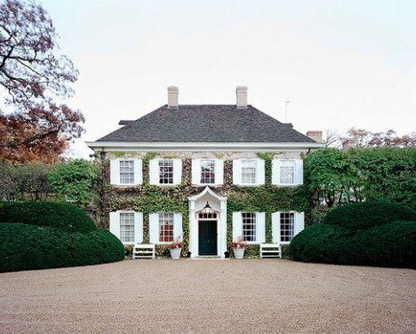 David Adler. Classic Georgian with classic landscaping. If you are going to have a stately home in England I say go for a modest Georian house not a palace.