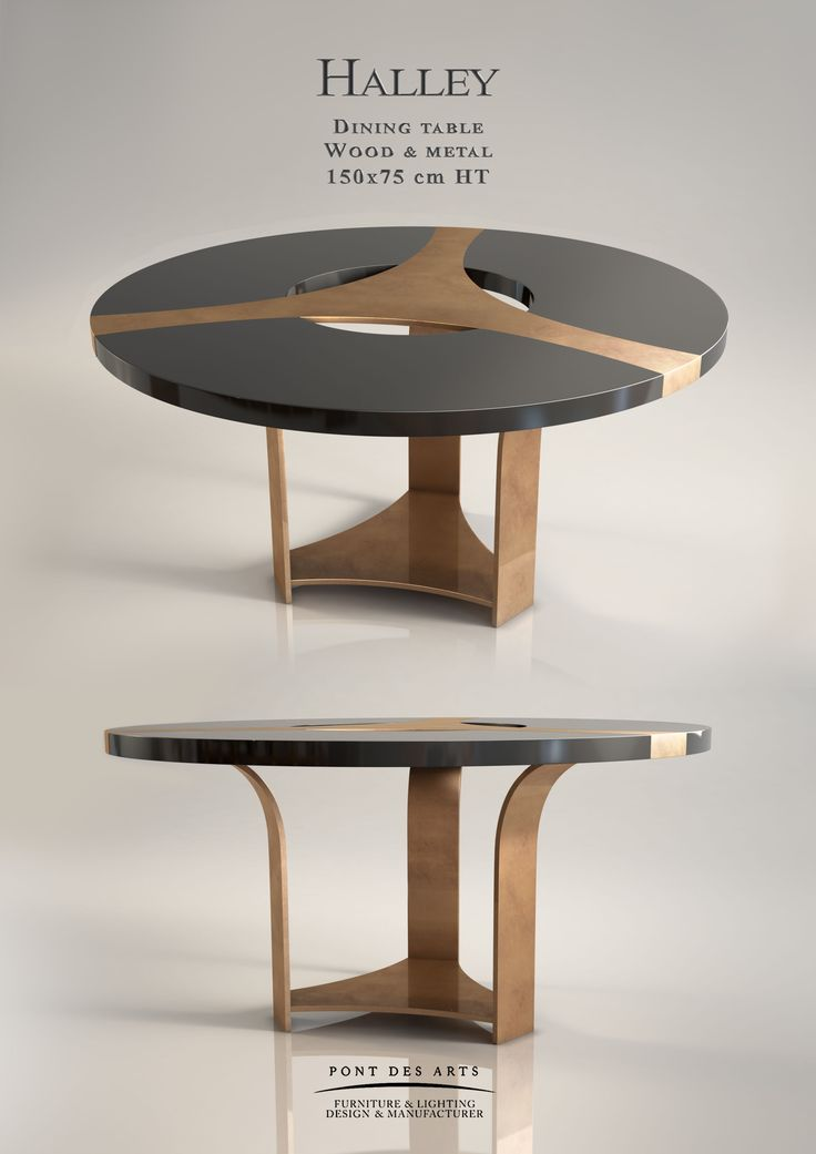HALLEY DINING TABLE |  Halley Dining table - Designer Monzer Hammoud - Pont des Arts Studio - Paris | www.bocadolobo.com/ #luxuryfurniture #designfurniture