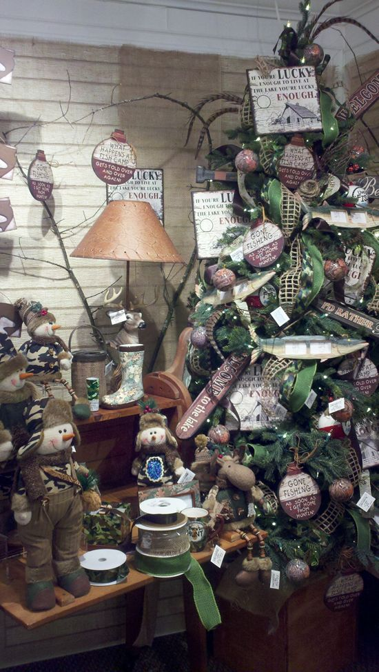 162 Best Camper Christmas Tree Fishing Theme Images On Pinterest  - Redneck Christmas Tree Decorations