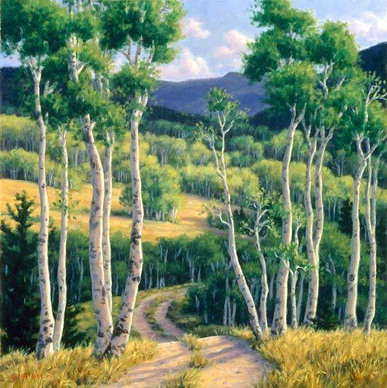 Summer aspen via landschaft g rten for Aspen tree wall mural