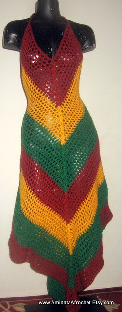 Beautiful Rasta Festival Dress by AminataAfrochet on Etsy, $125.00