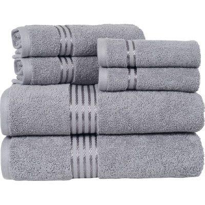 Gray Authentic Hotel Spa Turkish Cotton  Piece Towel