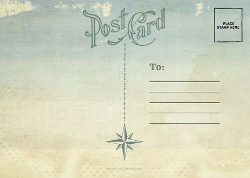 70 best PostCards images on Pinterest Post cards vintage - postcard format template