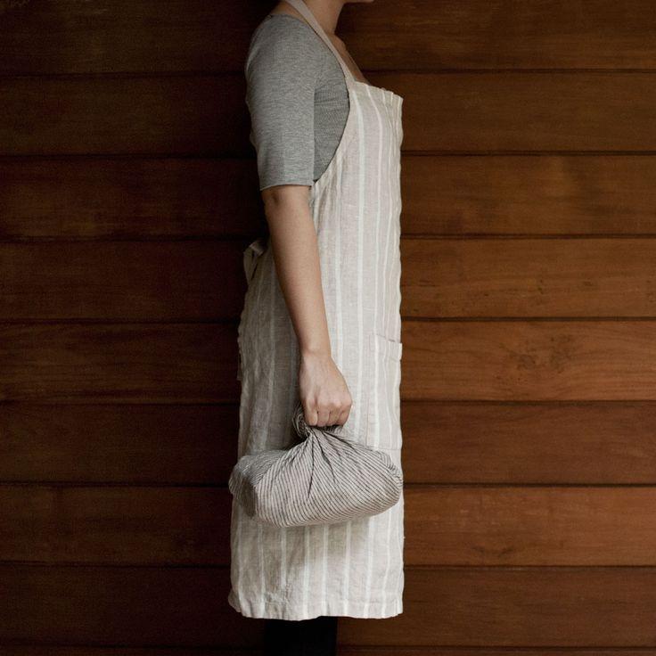 100% Baltic linen   apron   tea towel www.kamilinen.com