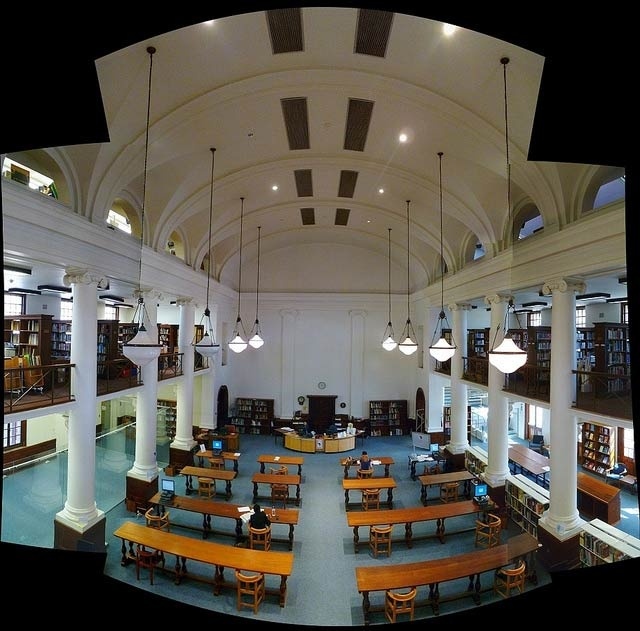 The Special Collections Reading room at the University of Cape Town, originally known as the African Studies Library.